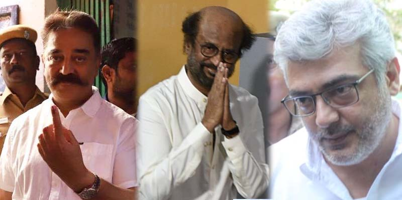 Tamil Celebrities cast their vote for Lok Sabha Election